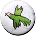 Magnetbutton B-Papagei