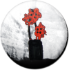 Magnetbutton Blumen