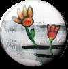 Magnetbutton Zwei Blumen
