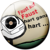 Magnetbutton Faust auf Faust