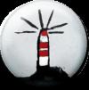 Magnetbutton Leuchtturm