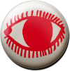 Magnetbutton O mit Auge