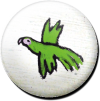 Magnetbutton Grüner Papagei