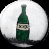 Magnetbutton Flasche