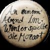 Magnetbutton Mozart