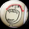 Magnetbutton Zähne zeigen
