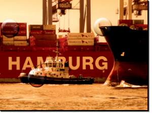 Magnetbrett Hafen Hamburg