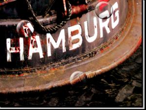 Magnetbrett Rostiges Hamburg